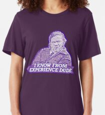 """""""I know from experience dude"""" Farley Billy Madison Slim Fit T-Shirt"""