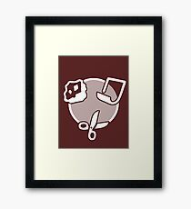 Rock Paper Scissors - white Framed Print