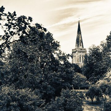 Country Church (vintage style)  by InspiraImage