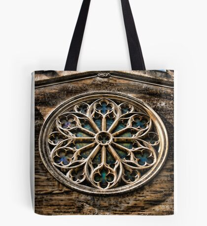 Round Stained Glass Church Window HDR  Tote Bag