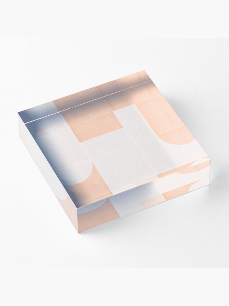 Alternate view of Retro Tiles 05 #redbubble #pattern Acrylic Block