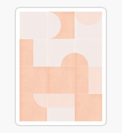 Retro Tiles 06 #redbubble #pattern Glossy Sticker
