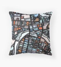ABSTRACT MAP OF WALTHAM MA Floor Pillow