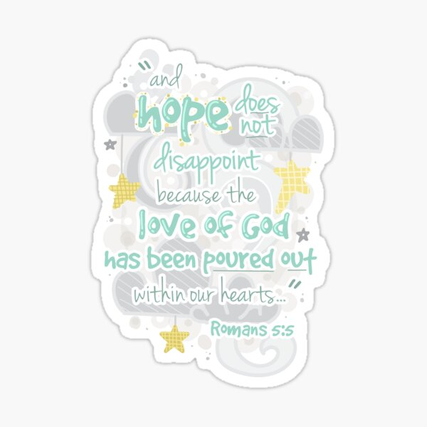 Romans 5:5 Sticker
