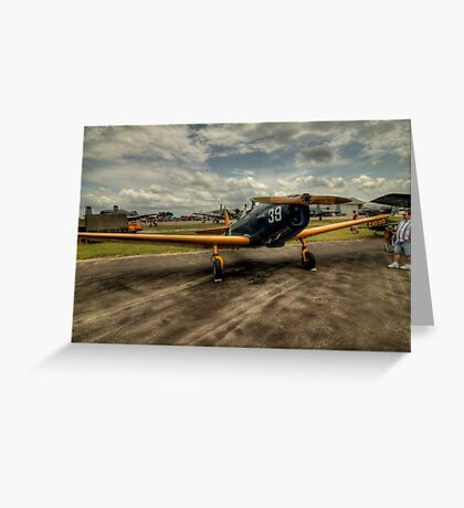 Two-Tone Monoplane Greeting Card