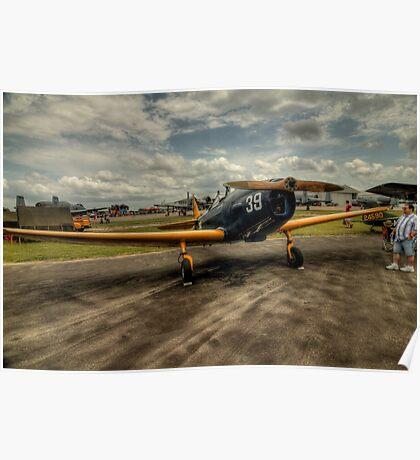 Two-Tone Monoplane Poster