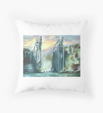 Two Kings of Old Throw Pillow
