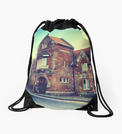 Oldest Pub in England Drawstring Bag