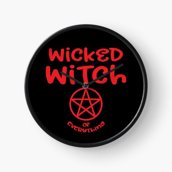 Wicked Witch of Everything by Cheeky Witch® Clock