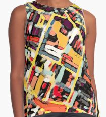 ABSTRACT MAP OF SOMERVILLE MA Sleeveless Top