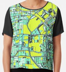 ABSTRACT MAP OF DENVER, CO Chiffon Top
