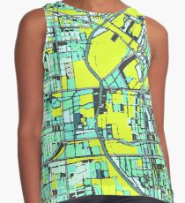 ABSTRACT MAP OF DENVER, CO Sleeveless Top