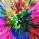 Vibrant Tie Dye Starburst by Phil Perkins