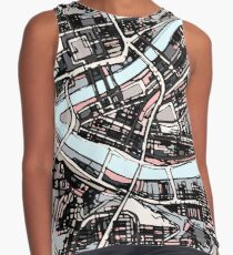 ABSTRACT MAP OF PITTSBURGH, PA Sleeveless Top