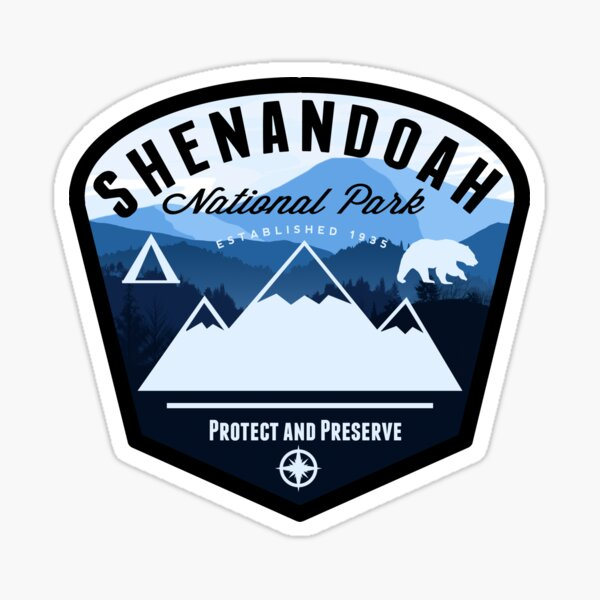 Shenandoah National Park Badge Sticker