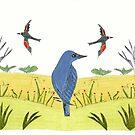 Field Birds by MerryCox-Art