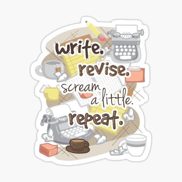 Write Revise Repeat Sticker