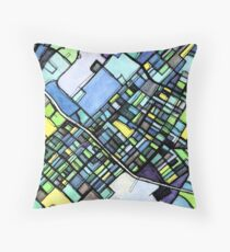 ABSTRACT MAP OF STATE COLLEGE, PA Floor Pillow