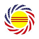 South Vietnamese American Multinational Patriot Flag Series by Carbon-Fibre Media