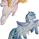 Cloud Pony Stickers by GwenPhifer