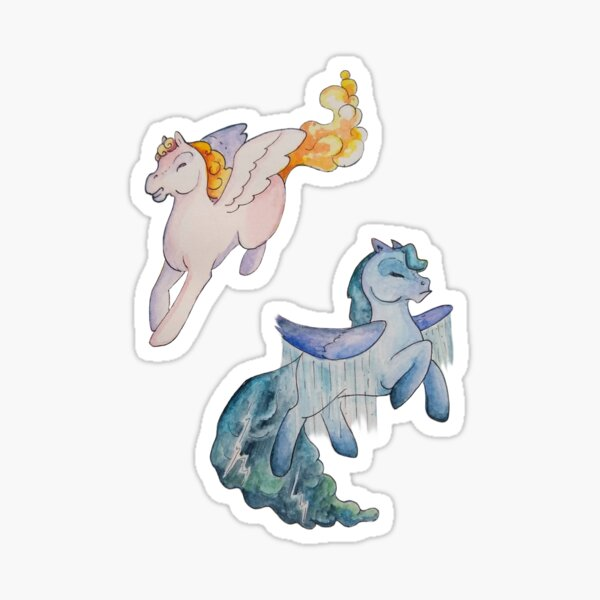 Cloud Pony Stickers Sticker