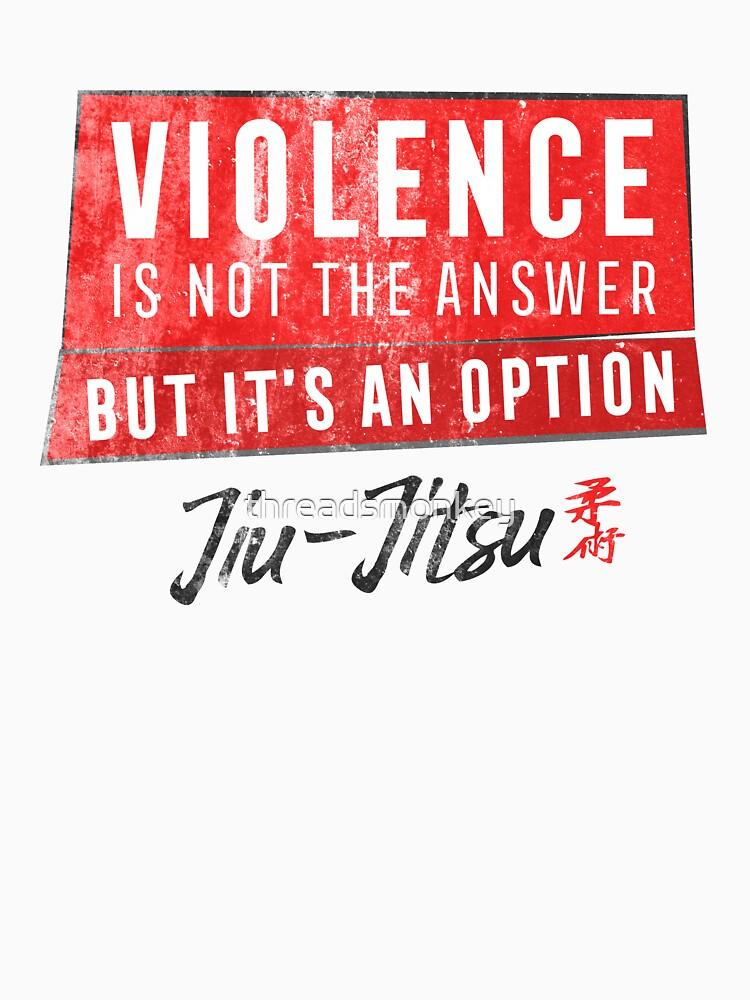 Jiu Jitsu Violence Not The Answer Dark Jujitsu BJJ Gift Dark by threadsmonkey