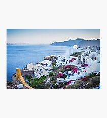 Greek Islands Santorini and wine Photographic Print