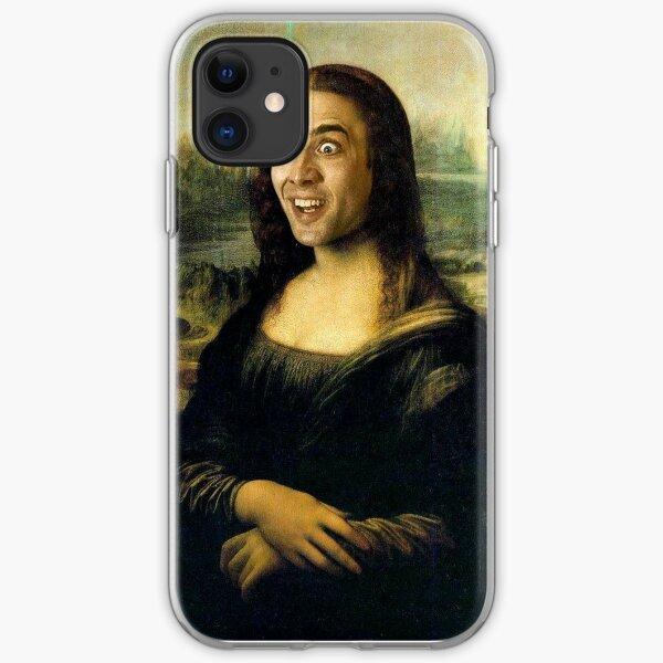 Nicholas Cage Mona Lisa iPhone Soft Case