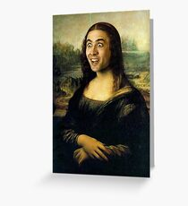 Nicholas Cage Mona Lisa Greeting Card
