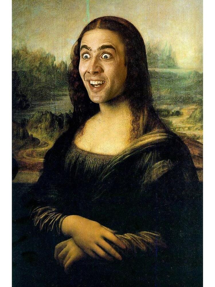 Nicholas Cage Mona Lisa von MaximumLobsters