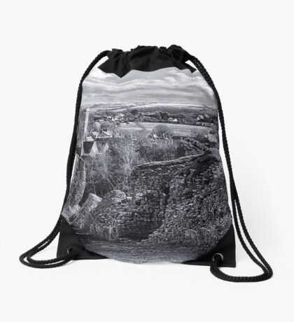 View over Corfe Drawstring Bag
