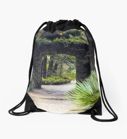 Tropical Pathway Drawstring Bag