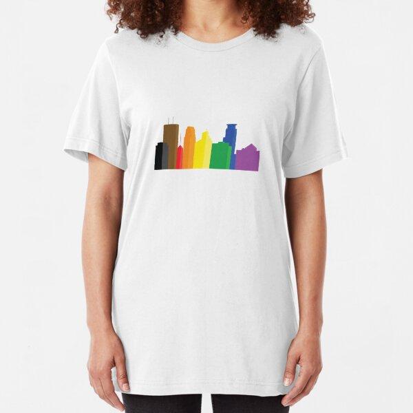 Minneapolis Pride Skyline Slim Fit T-Shirt