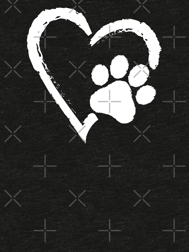 Love Heart Paw Print (white print) by rescuedogs101
