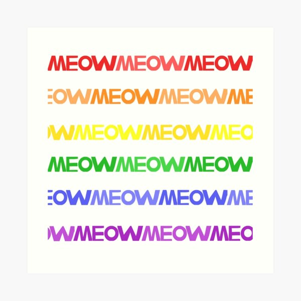 Meow Stripes (set 4) Art Print