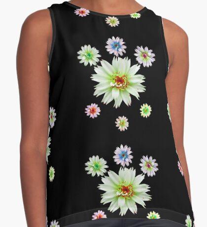 zauberhafte bunte Blumen, Blüten, Blume, Natur Kontrast Top