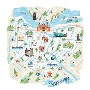 Amsterdam Stadtplan von sundrystudio