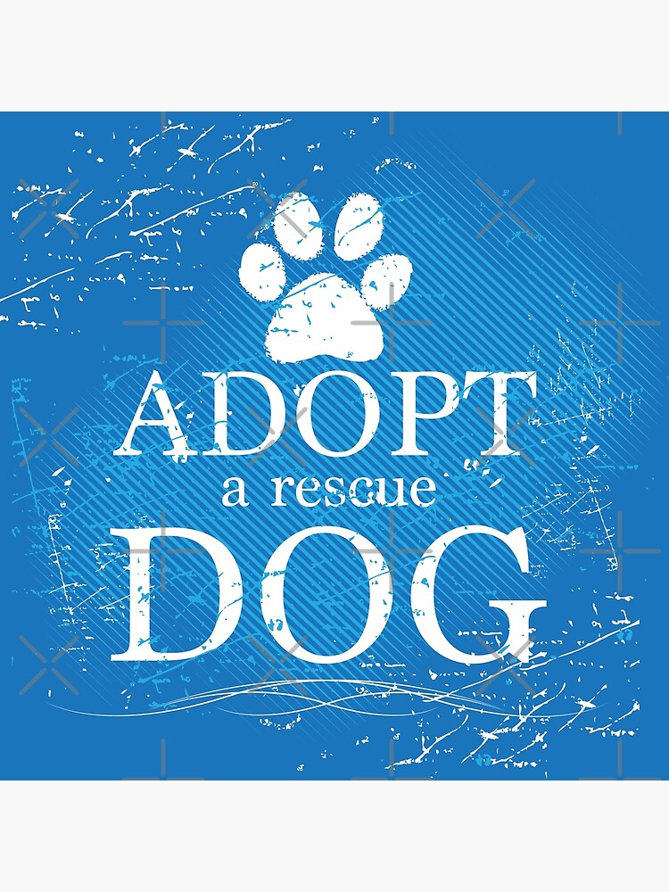 Adopt a Rescue Dog Pawprint by rescuedogs101