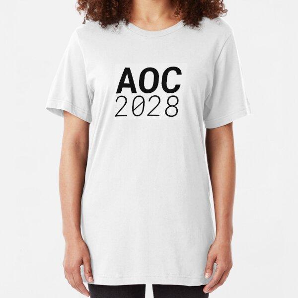 AOC 2028 - Get ready for Alexandria Ocasio-Cortez's future presidential run! Slim Fit T-Shirt
