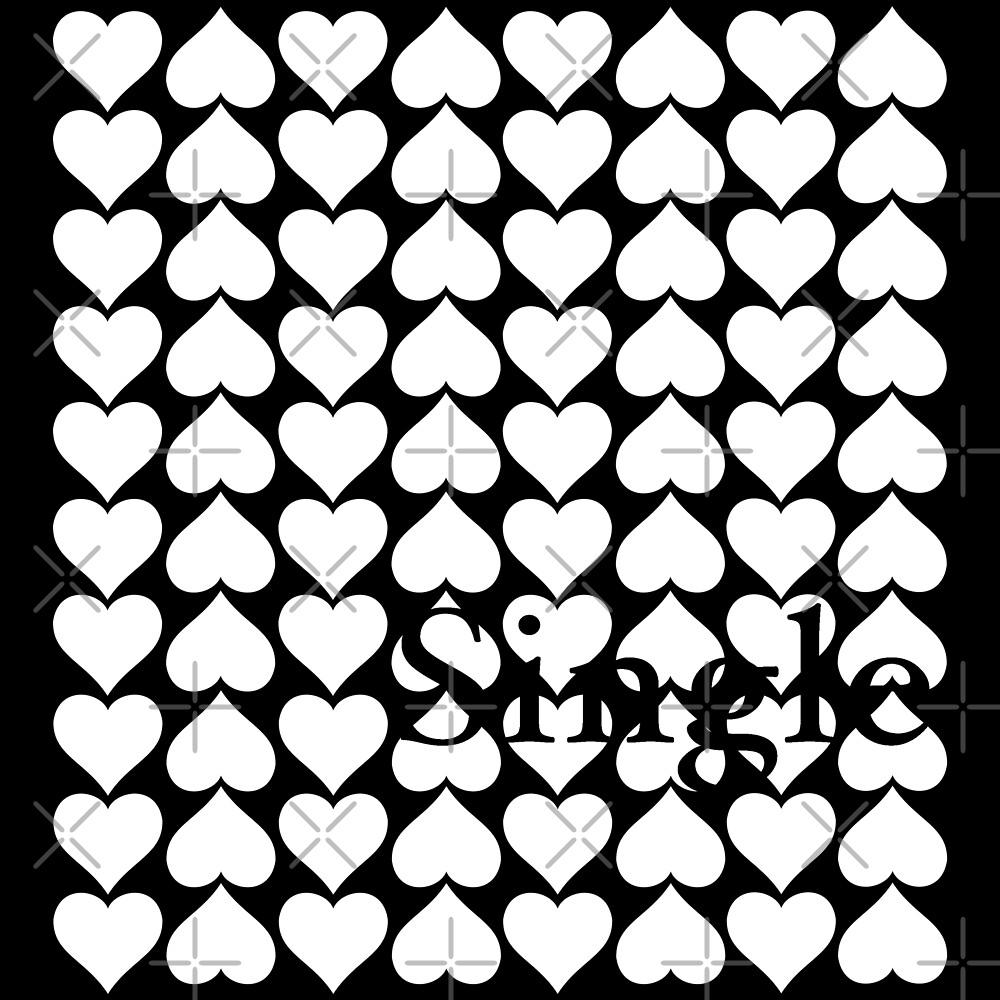 SINGLE HEART PATTERN (w) by Pentamoby