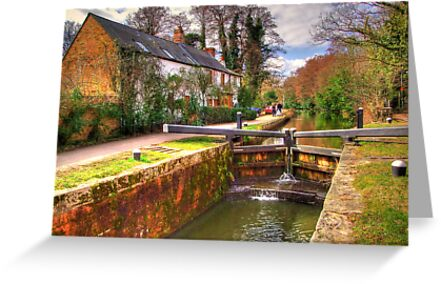 Woodham Lock - Basingstoke Canal - HDR by Colin  Williams Photography