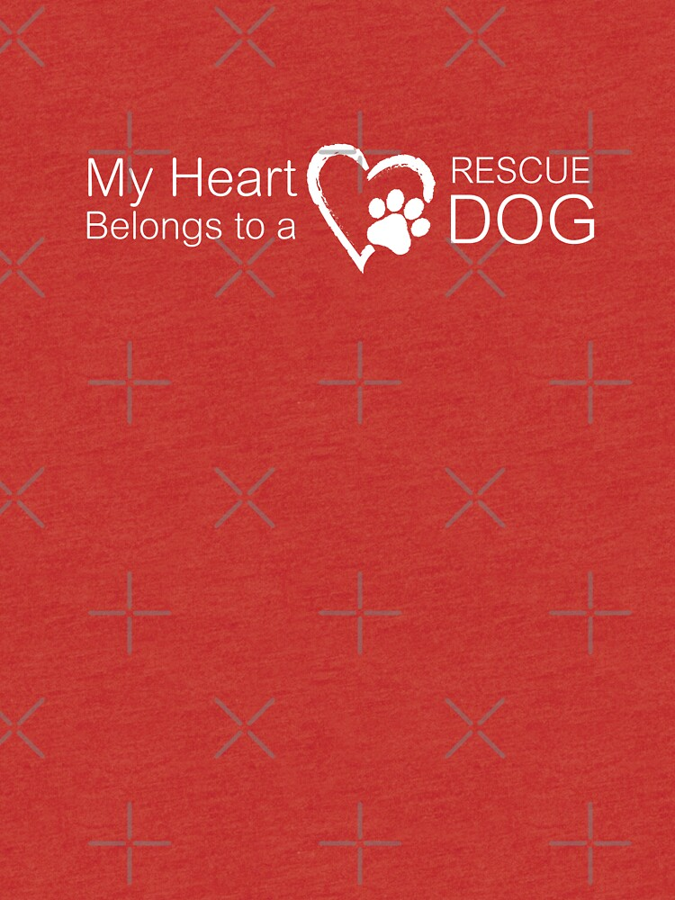 My Heart Belongs to a Rescue Dog - Heart Paw Print by rescuedogs101