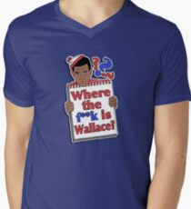 Where the F**k is Wallace? Men's V-Neck T-Shirt