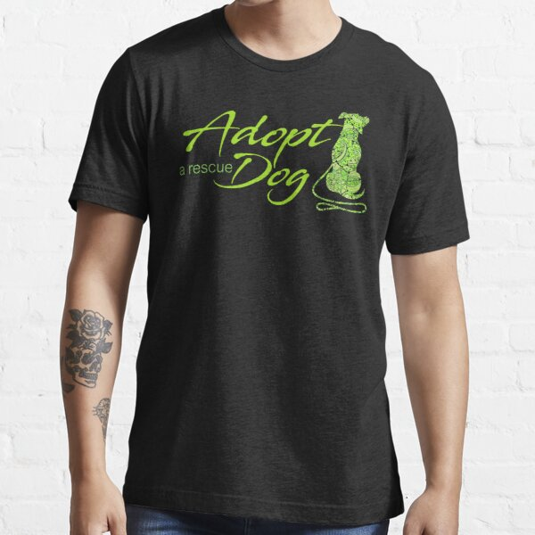 Adopt a Rescue Dog - Beautiful Paisley Dog - Lime Green Essential T-Shirt