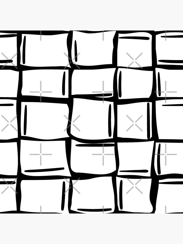 Black and white wonky ice cubes pattern by nobelbunt