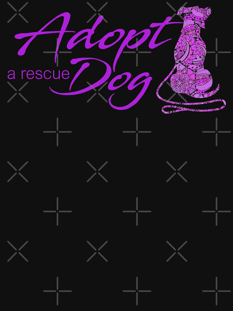Adopt a Rescue Dog - Beautiful Paisley Dog - Bright Purple by rescuedogs101