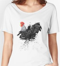Grunge Rooster Black Women's Relaxed Fit T-Shirt