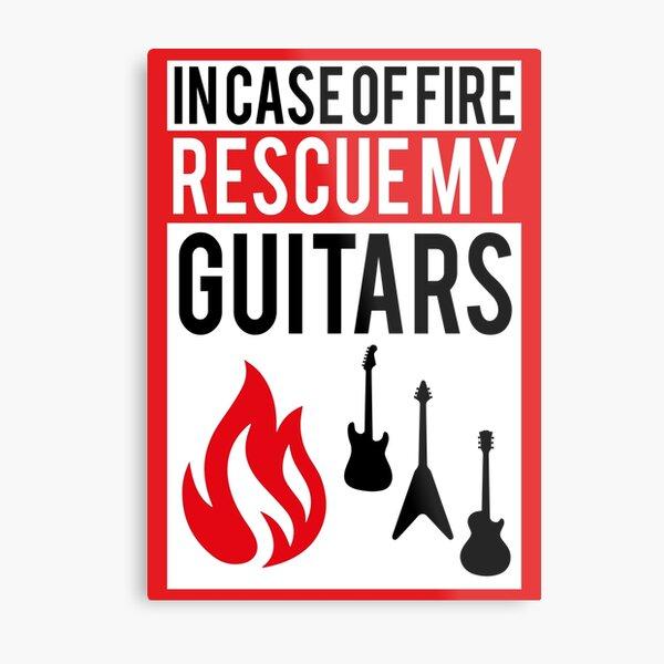 Rescue my Guitars Metal Print