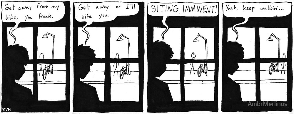 Get Away From My Bike by AmbrMerlinus