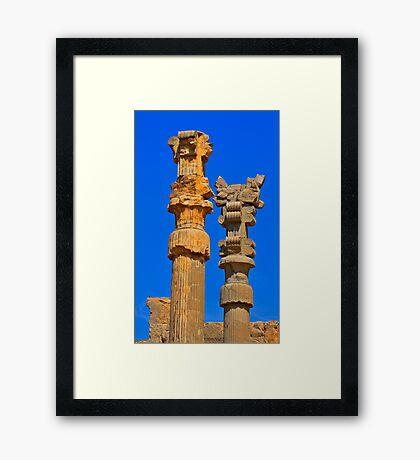 Capital Columns - Persepolis - Iran Framed Print